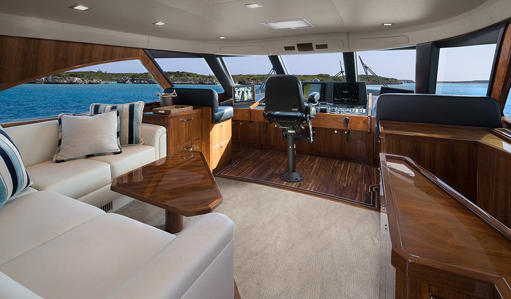 viking yachts 80 enclosed bridge